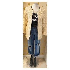 FC Jeans/French Connection - Shaggy Sherpa…